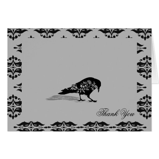El boda gótico del marco del cuervo negro le agrad felicitaciones