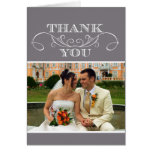El boda gris moderno del remolino le agradece las  felicitación