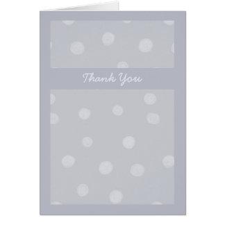 El boda gris plateado pintado de los puntos le tarjeta de felicitación