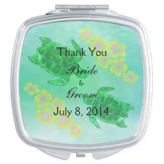 El boda hawaiano de Honu le agradece Espejo Para El Bolso
