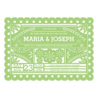 El boda horneado a la crema y con pan rallado de invitación 12,7 x 17,8 cm