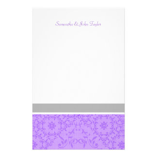 El boda inmóvil personalizado le agradece las nota papeleria de diseño