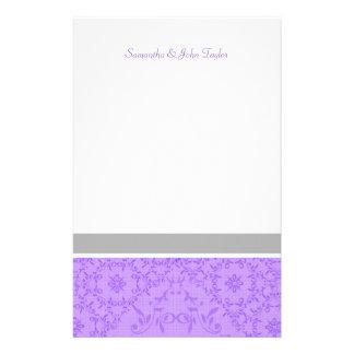 El boda inmóvil personalizado le agradece las  papeleria