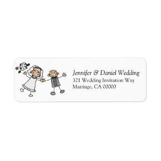 El boda invita al novio lindo simple de la novia etiqueta de remite
