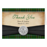 El boda irlandés de Claddagh del Celtic del tartán Tarjetón