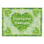 El boda irlandés del día de St Patrick le agradece Felicitacion