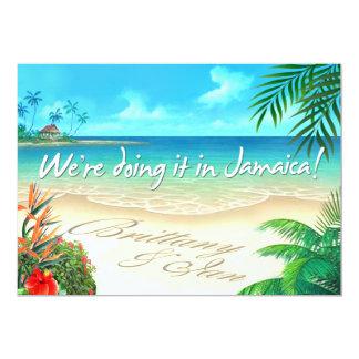 El boda jamaicano de la playa exótica consigue comunicados personalizados