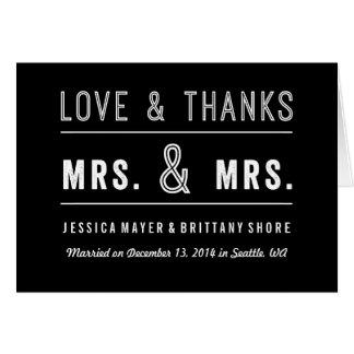El boda lesbiano gay de los pares le agradece felicitacion