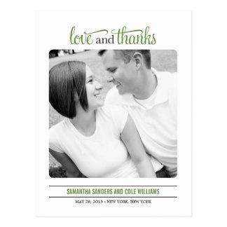 El boda limpio de la mirada le agradece cardar tarjeta postal