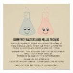 El boda lindo de la química invita anuncios