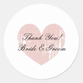 El boda lindo le agradece los selladores del sobre pegatina redonda