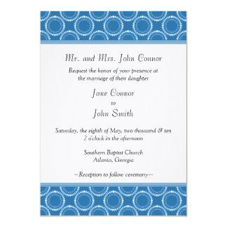 El boda liso y pulido invita, azul del Cornflower Invitación 12,7 X 17,8 Cm