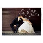 El boda MANUSCRITO le agradece tarjeta de la foto