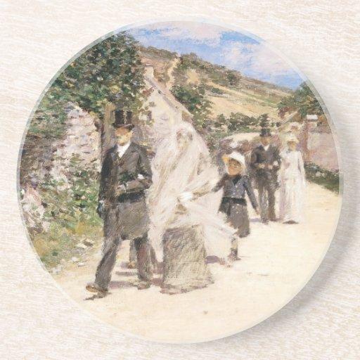 El boda marzo de Theodore Robinson, recienes Posavasos Para Bebidas