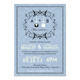 El boda moderno de Cakepop del amor más dulce Invitación 12,7 X 17,8 Cm