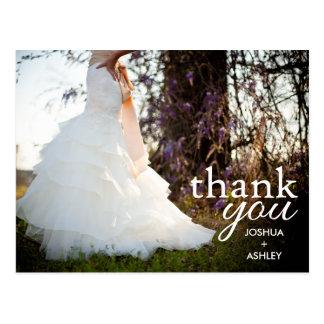 El boda moderno de encargo le agradece postal
