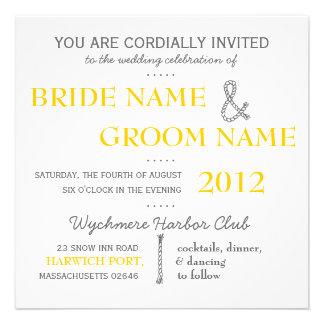 El boda moderno de la habitación de la invitación