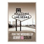 El boda moderno de Las Vegas de la sepia del Invitación 12,7 X 17,8 Cm
