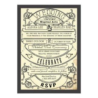El boda moderno del boleto de la tipografía del vi invitacion personal