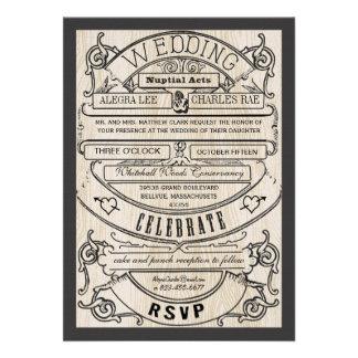 El boda moderno del boleto de la tipografía del vi anuncio personalizado