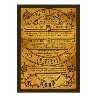 El boda moderno del boleto de la tipografía del vi invitación personalizada