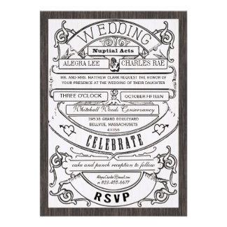 El boda moderno del boleto de la tipografía del vi comunicado