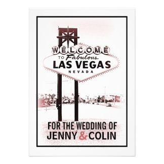 El boda moderno romántico de Las Vegas del vintage Comunicados Personales