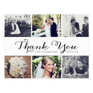 El boda múltiple de la foto le agradece postal