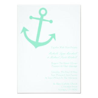 El boda náutico del ancla del barco invita anuncio personalizado