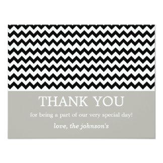 """El boda negro de Chevron le agradece las tarjetas Invitación 4.25"""" X 5.5"""""""