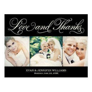 El boda negro del amor y de las gracias el | le tarjetas postales