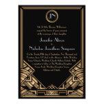 El boda negro del estilo de Gatsby del art déco Invitacion Personal