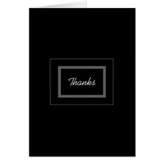 El boda negro llano del padrino de boda le agradec tarjeta