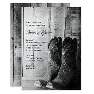 """El boda occidental de vaquero del país rústico de invitación 5"""" x 7"""""""