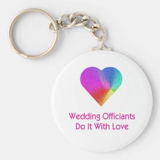 El boda Officiants lo hace con amor Llavero Redondo Tipo Pin