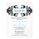 El boda ornamental con monograma del damasco invit invitaciones personales