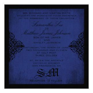 El boda oscuro del caballero invita al cuadrado comunicado
