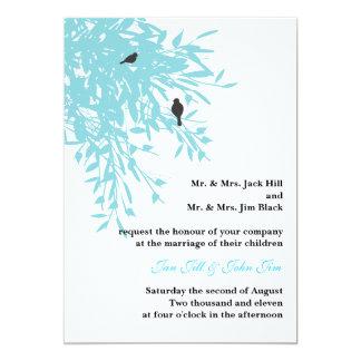 El boda pacífico invita invitación 12,7 x 17,8 cm