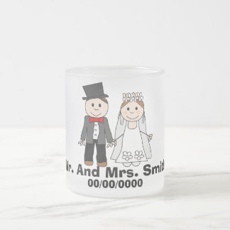 el boda, par del boda, corrige el texto, añade la taza de café esmerilada