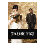 El boda pasado de moda rústico del país le invitación 12,7 x 17,8 cm