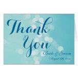 El boda personalizado azul de la aguamarina le agr felicitación