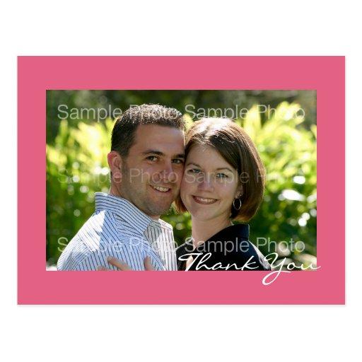 El boda personalizado de la foto le agradece las p postales