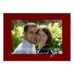 El boda personalizado de la foto le agradece las t felicitaciones