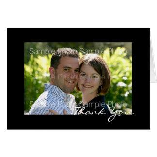 El boda personalizado de la foto le agradece las t felicitacion