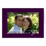 El boda personalizado de la foto le agradece las t tarjetón