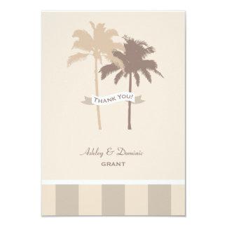 El boda plano le agradece las palmeras de la invitación 8,9 x 12,7 cm