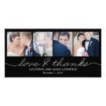 El boda precioso de la escritura le agradece las t tarjeta personal