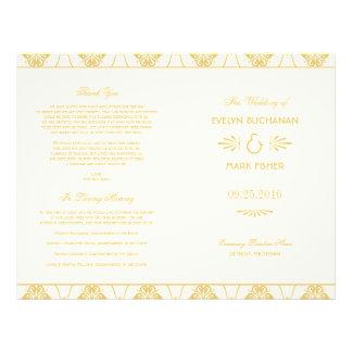 El boda programa estilo del art déco del tarjetas informativas
