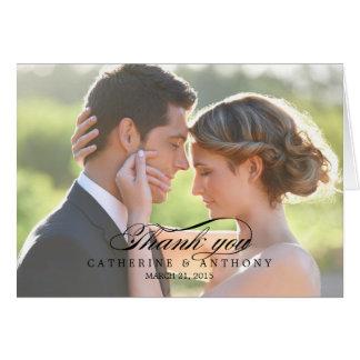 El boda puro de la elegancia le agradece cardar -  tarjeton