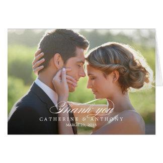 El boda puro de la elegancia le agradece cardar - tarjeta pequeña